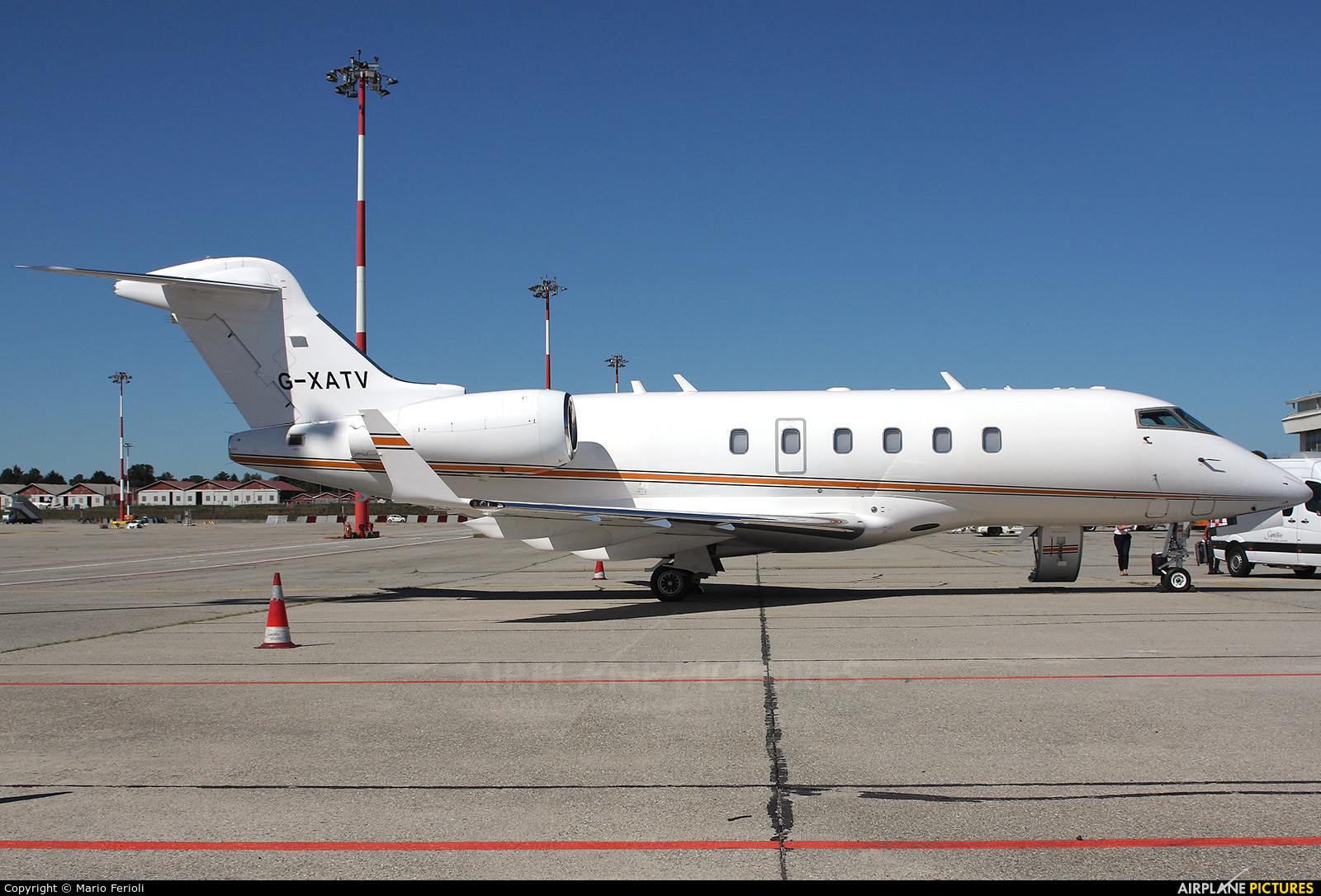 Private G-XATV aircraft at Milan - Malpensa