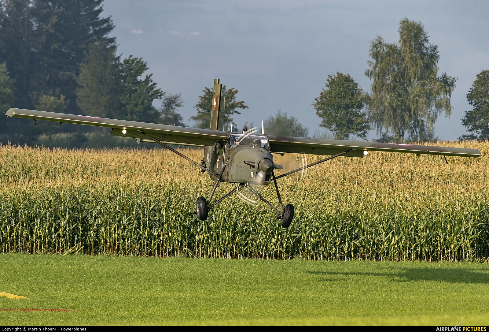 Switzerland - Air Force V-618 aircraft at Off Airport - Switzerland