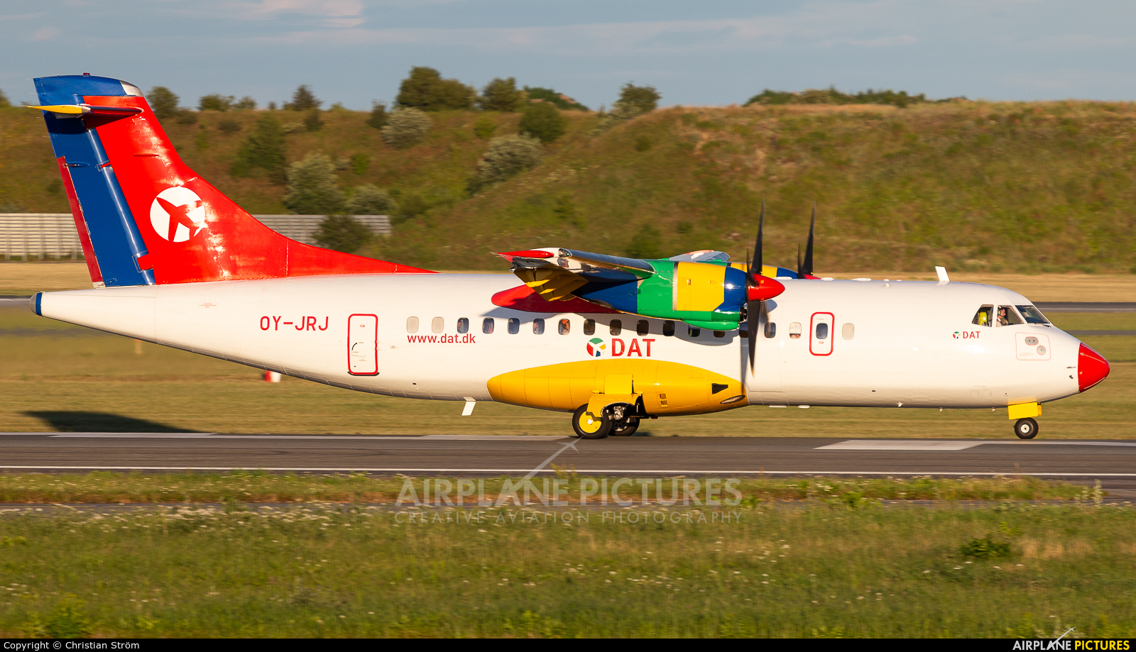 Danish Air Transport OY-JRJ aircraft at Copenhagen Kastrup