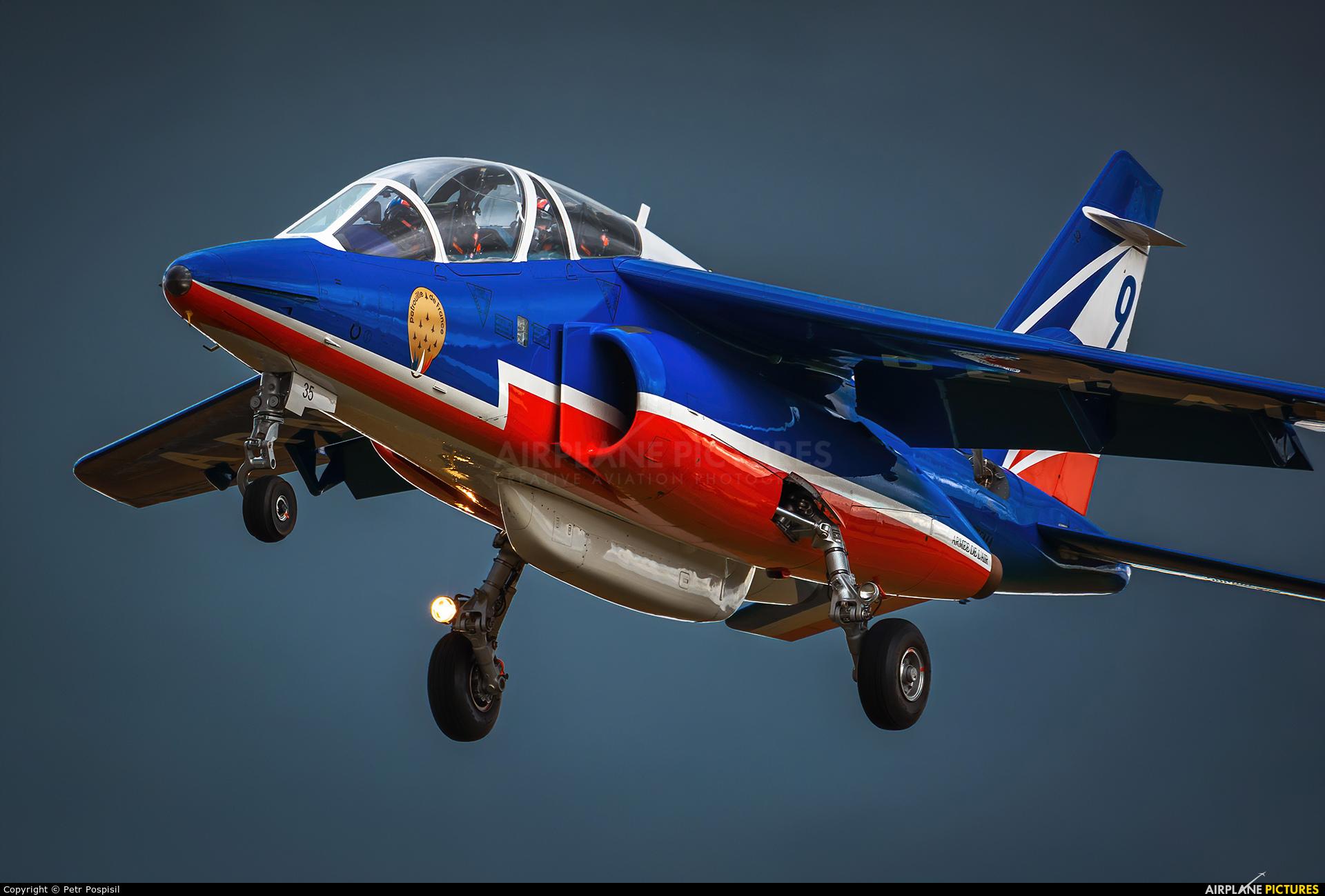 "France - Air Force ""Patrouille de France"" E035 aircraft at Ostrava Mošnov"
