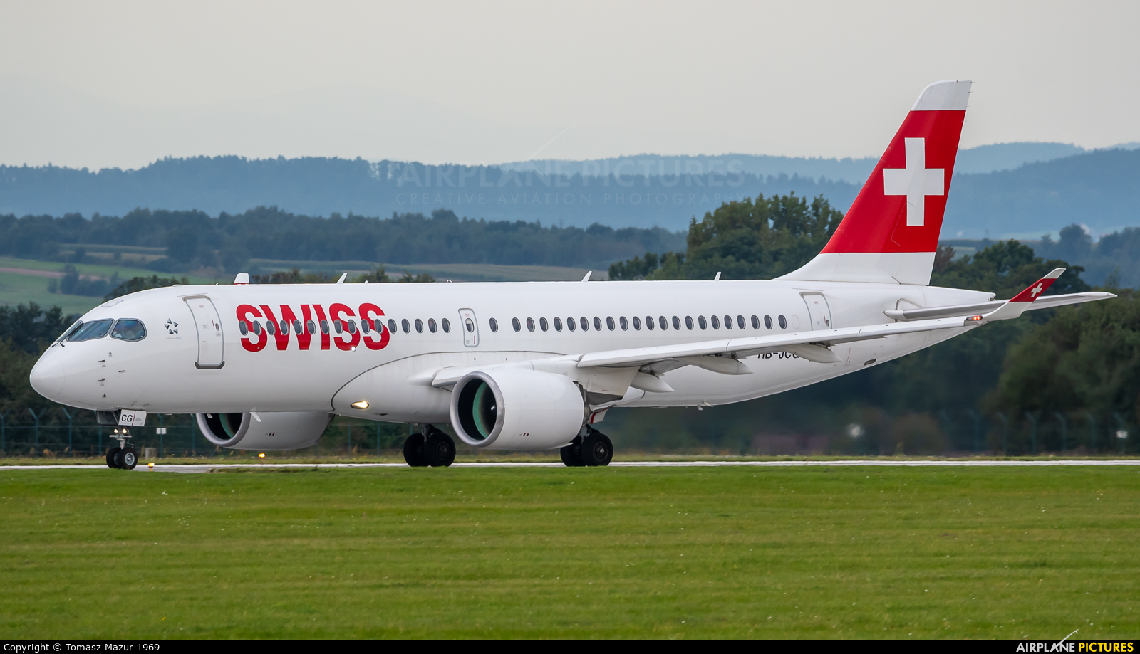 Swiss HB-JCG aircraft at Kraków - John Paul II Intl