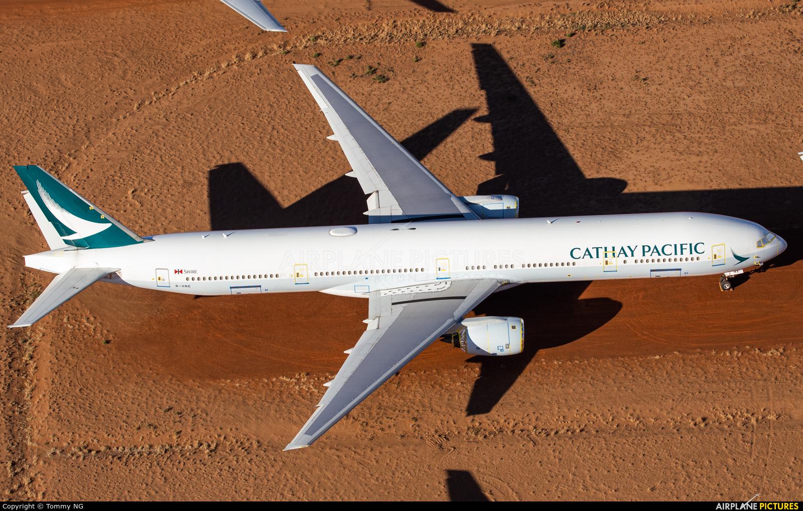 Cathay Pacific B-HNE aircraft at