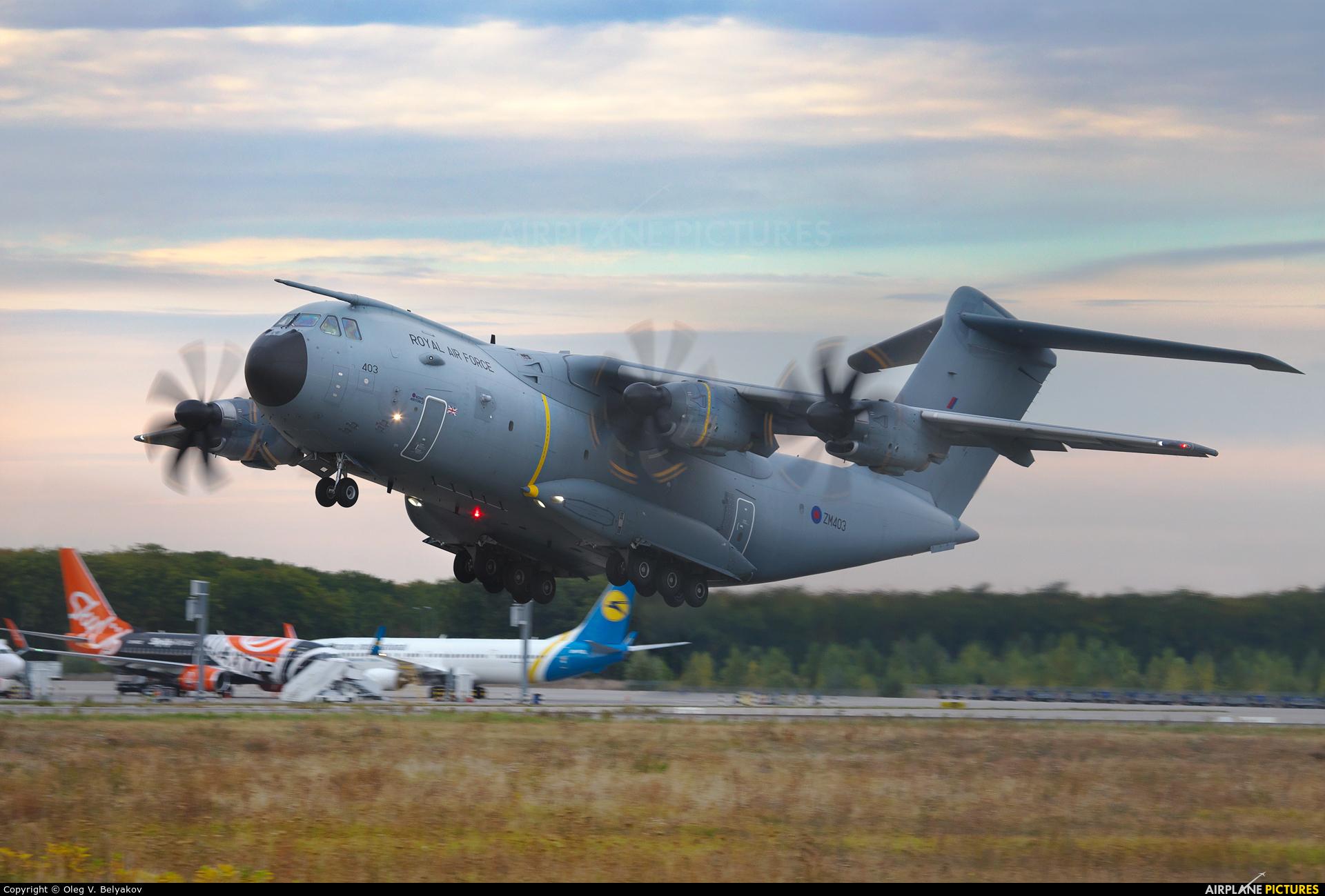 Royal Air Force ZM403 aircraft at Kyiv - Borispol