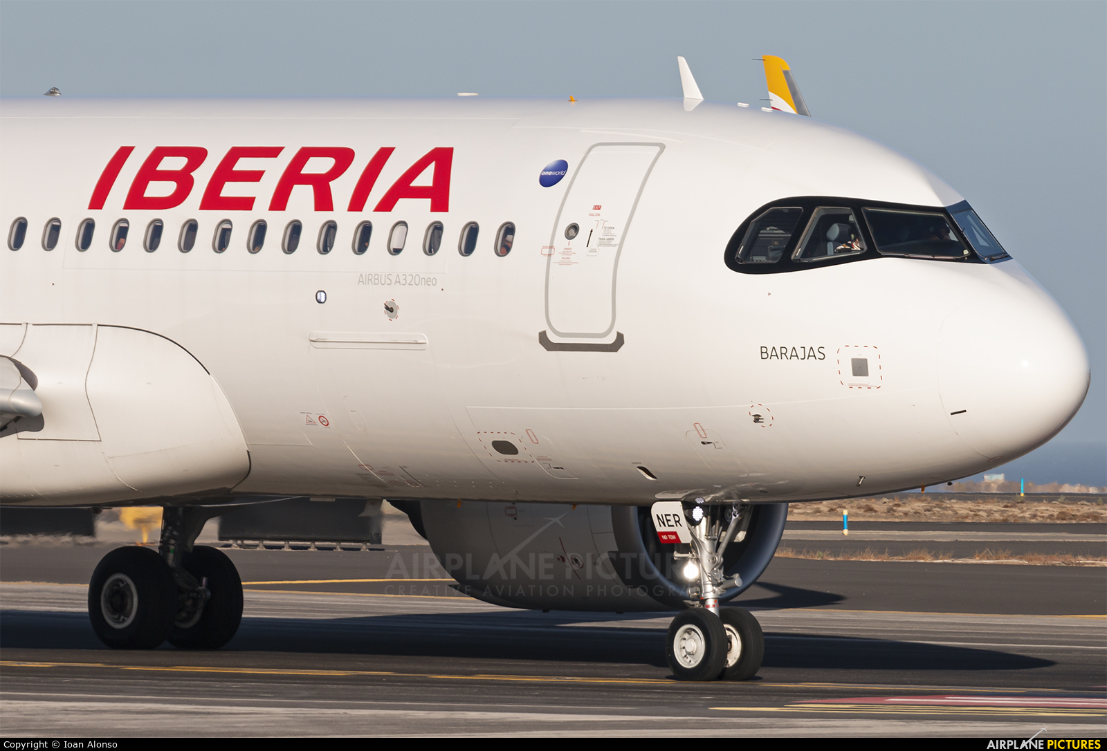 Iberia EC-NER aircraft at Tenerife Sur - Reina Sofia