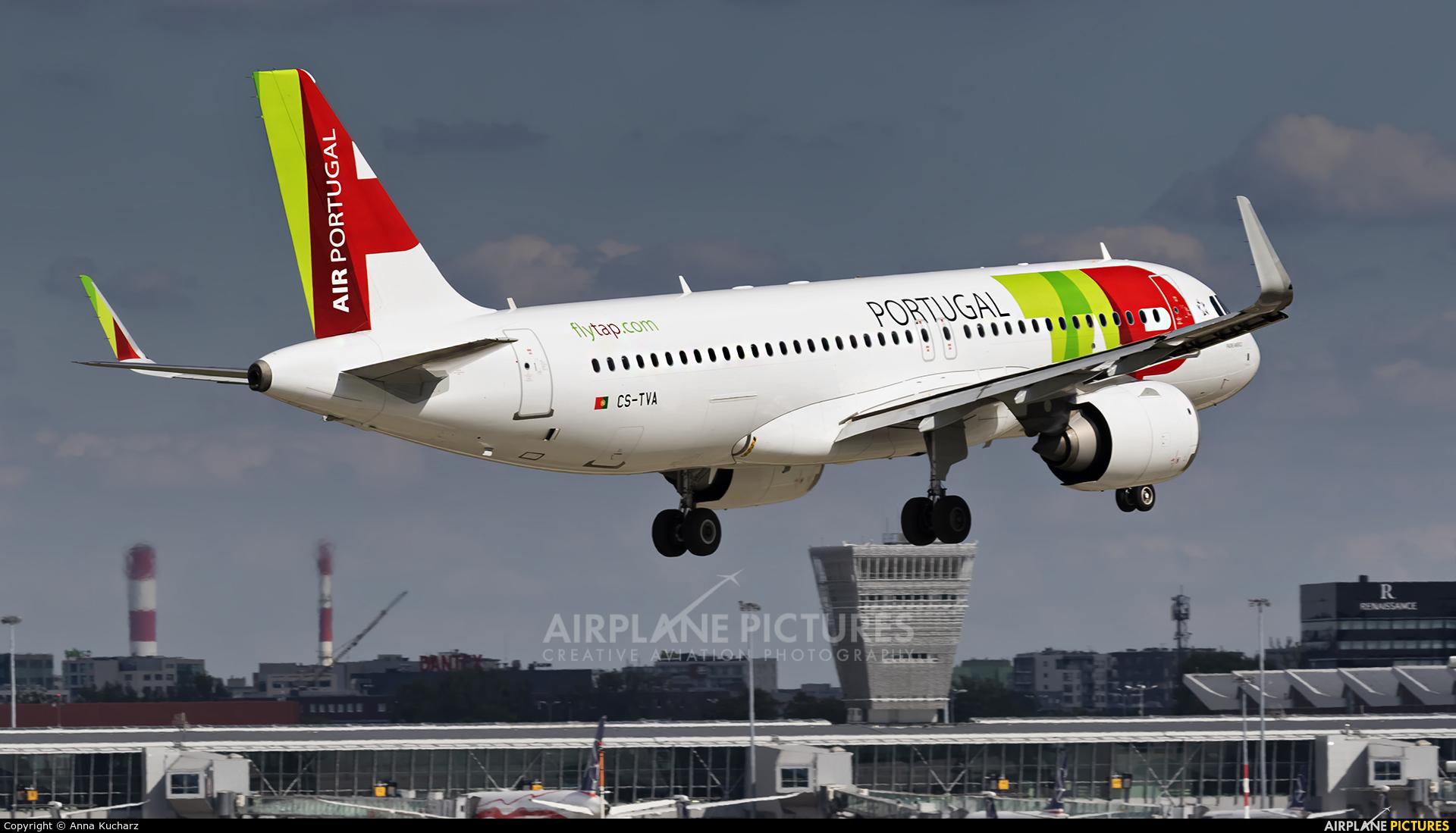 TAP Portugal CS-TVA aircraft at Warsaw - Frederic Chopin