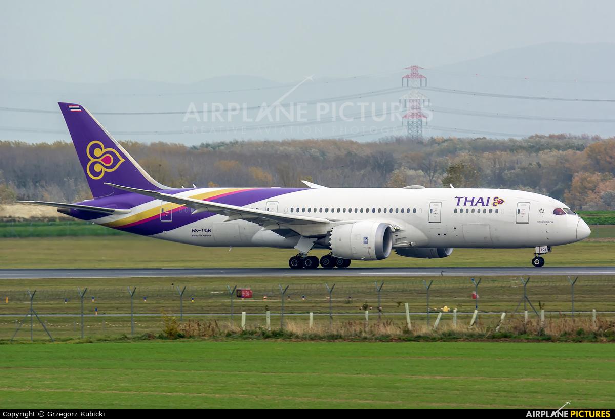 Thai Airways HS-TQB aircraft at Vienna - Schwechat