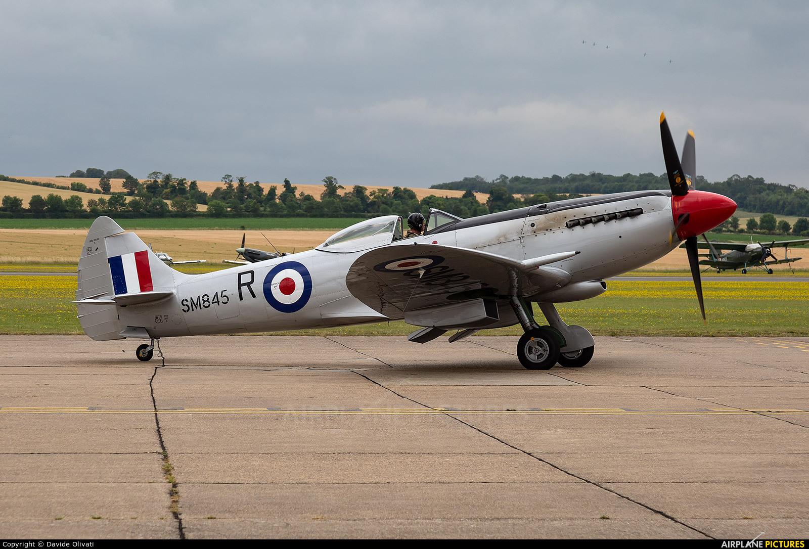 Historic Flying SM845 aircraft at Duxford