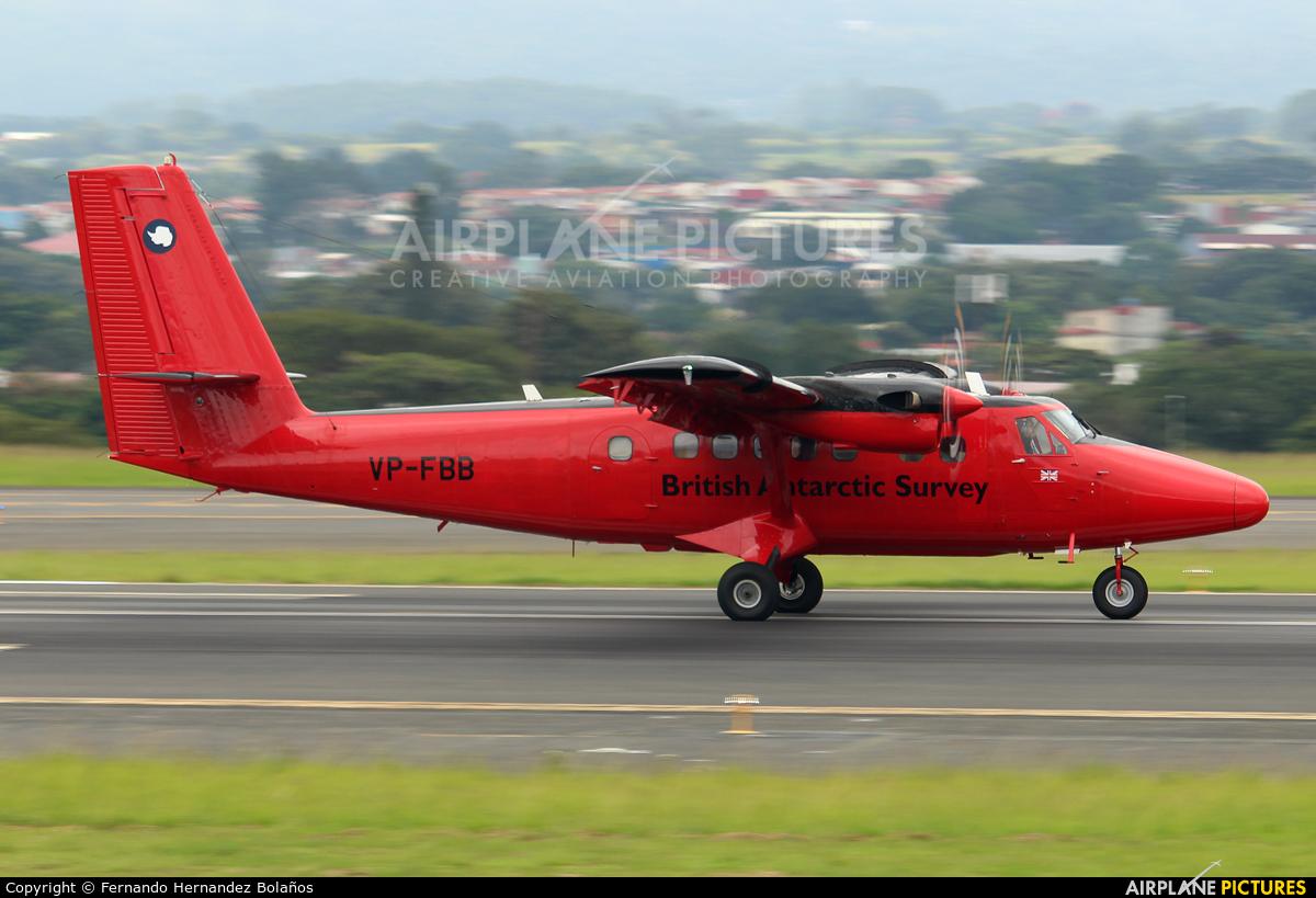 British Antarctic Survey VP-FBB aircraft at San Jose - Juan Santamaría Intl