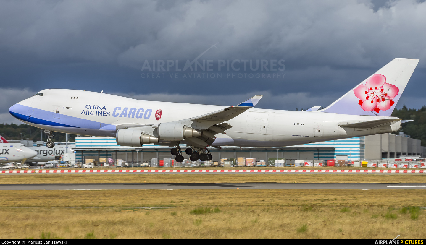 China Airlines Cargo B-18715 aircraft at Luxembourg - Findel
