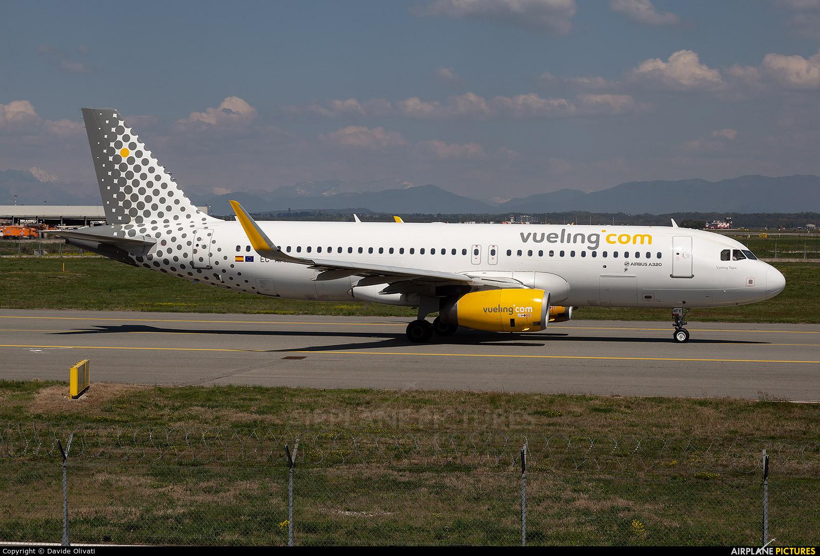 Vueling Airlines EC-MFK aircraft at Milan - Malpensa
