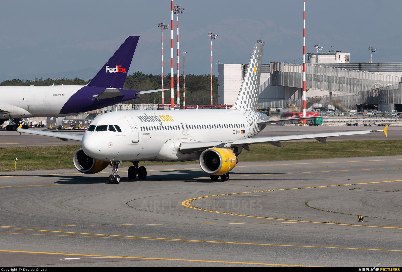 Vueling Airlines EC-LOB aircraft at Milan - Malpensa