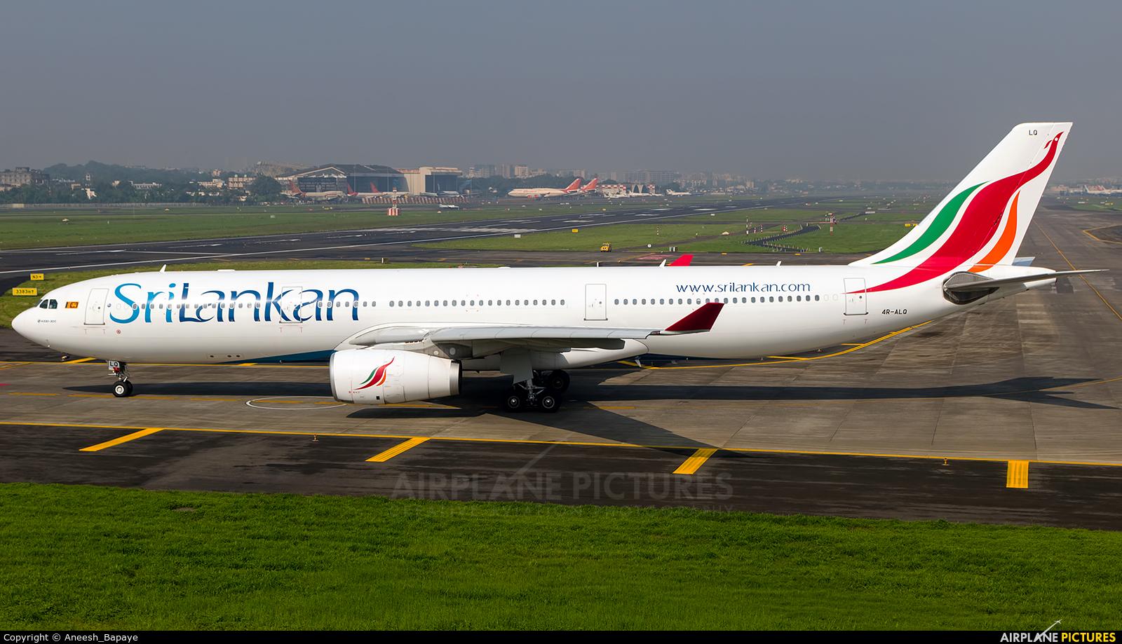 SriLankan Airlines 4R-ALQ aircraft at Mumbai - Chhatrapati Shivaji Intl