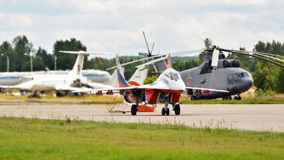 "RF-91951 - Russia - Air Force ""Strizhi"" Mikoyan-Gurevich MiG-29UB"