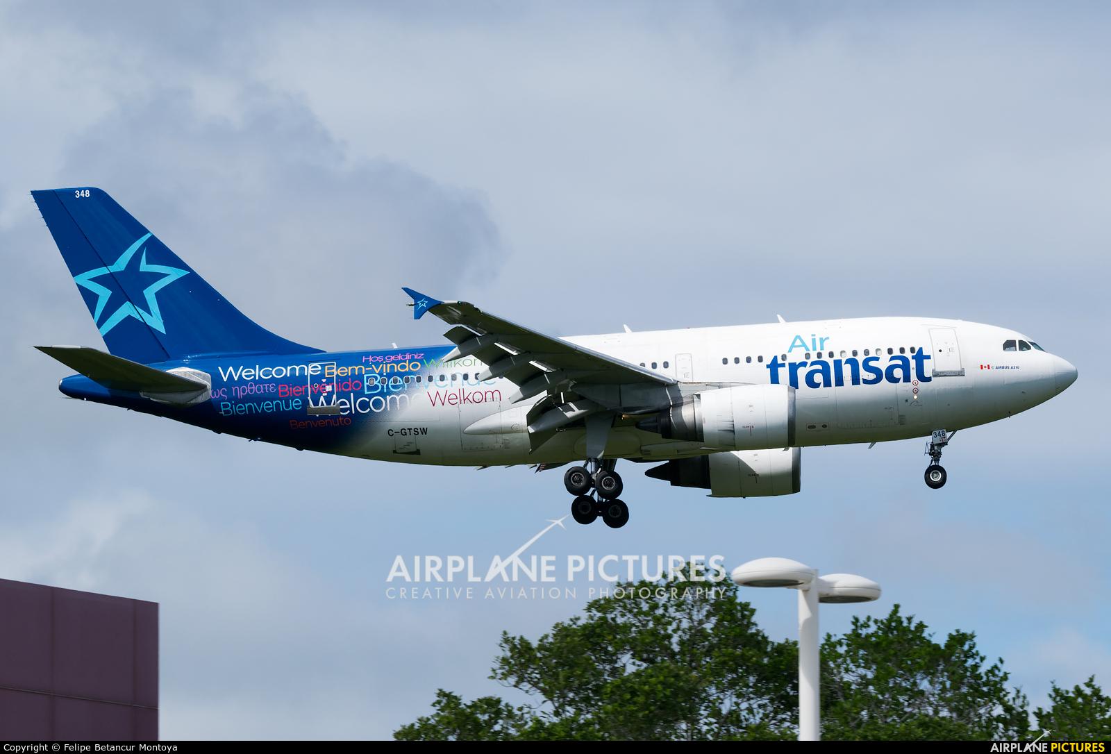 Air Transat C-GTSW aircraft at Punta Cana