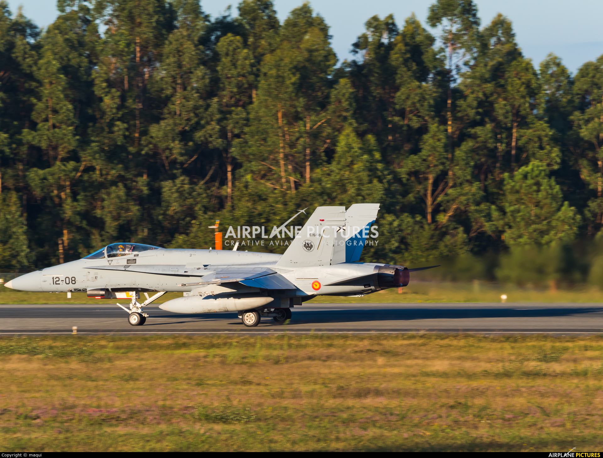 Spain - Air Force C.15-50 aircraft at Santiago de Compostela