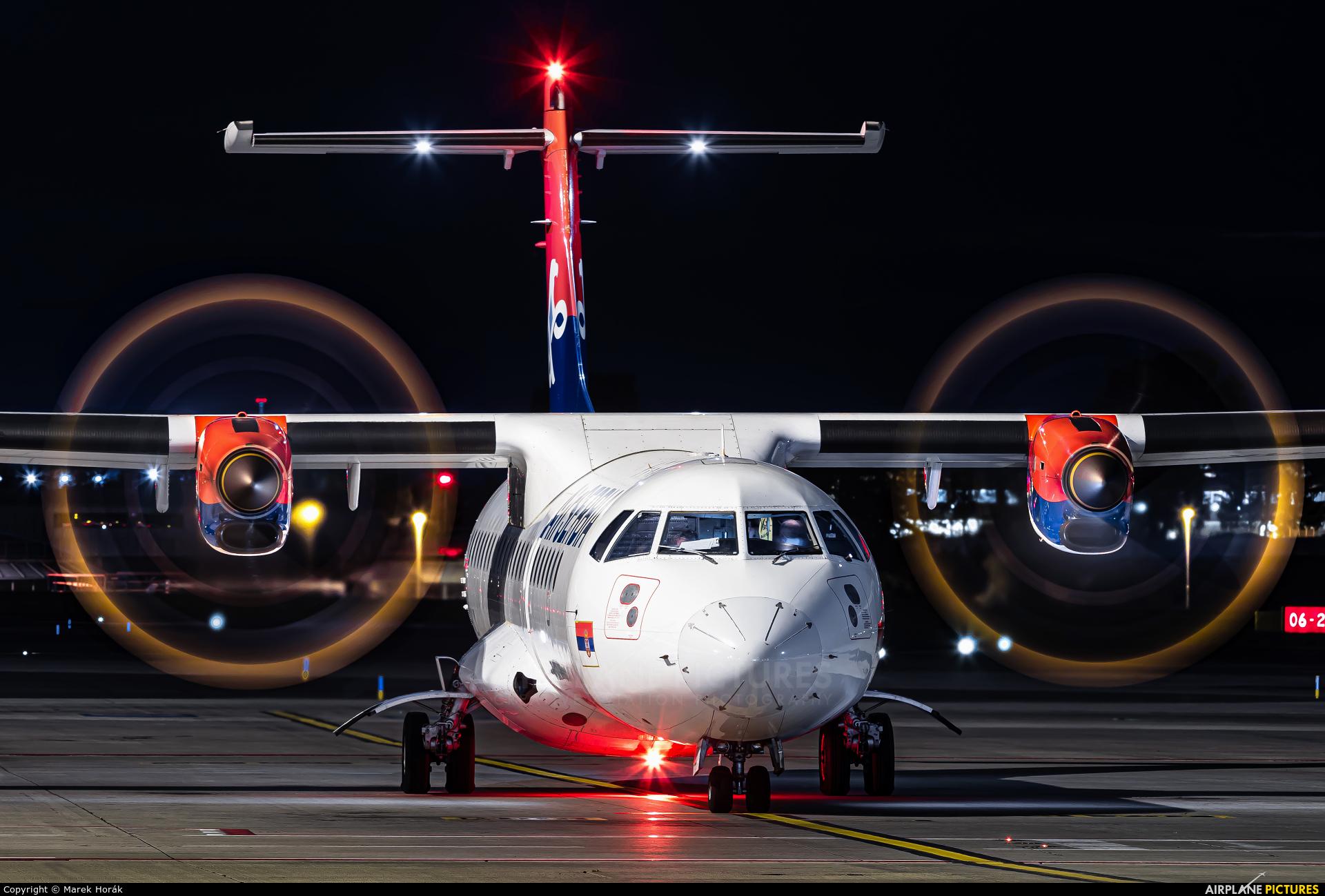 Air Serbia YU-ALU aircraft at Prague - Václav Havel