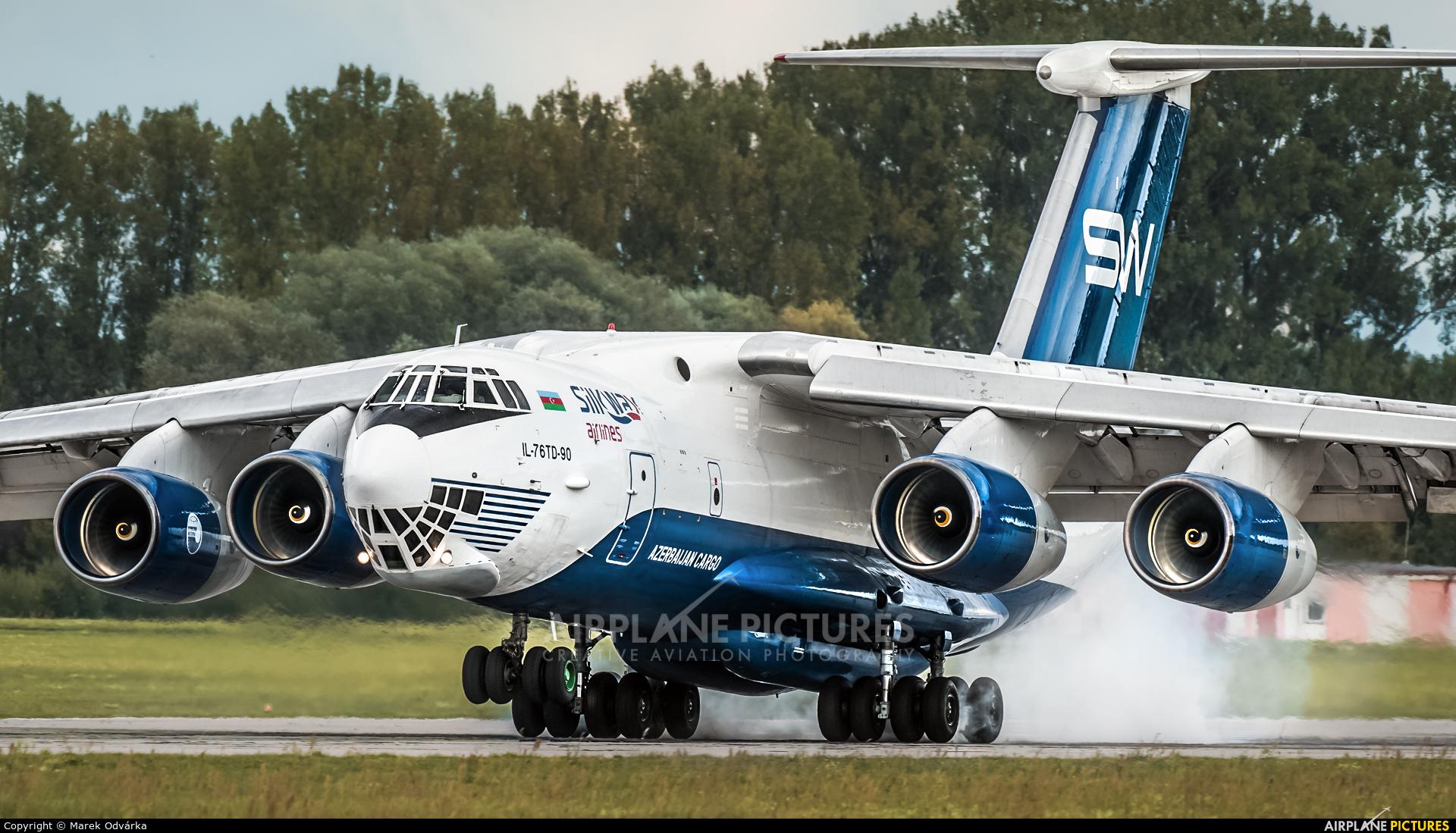 Silk Way Airlines 4K-AZ100 aircraft at Pardubice