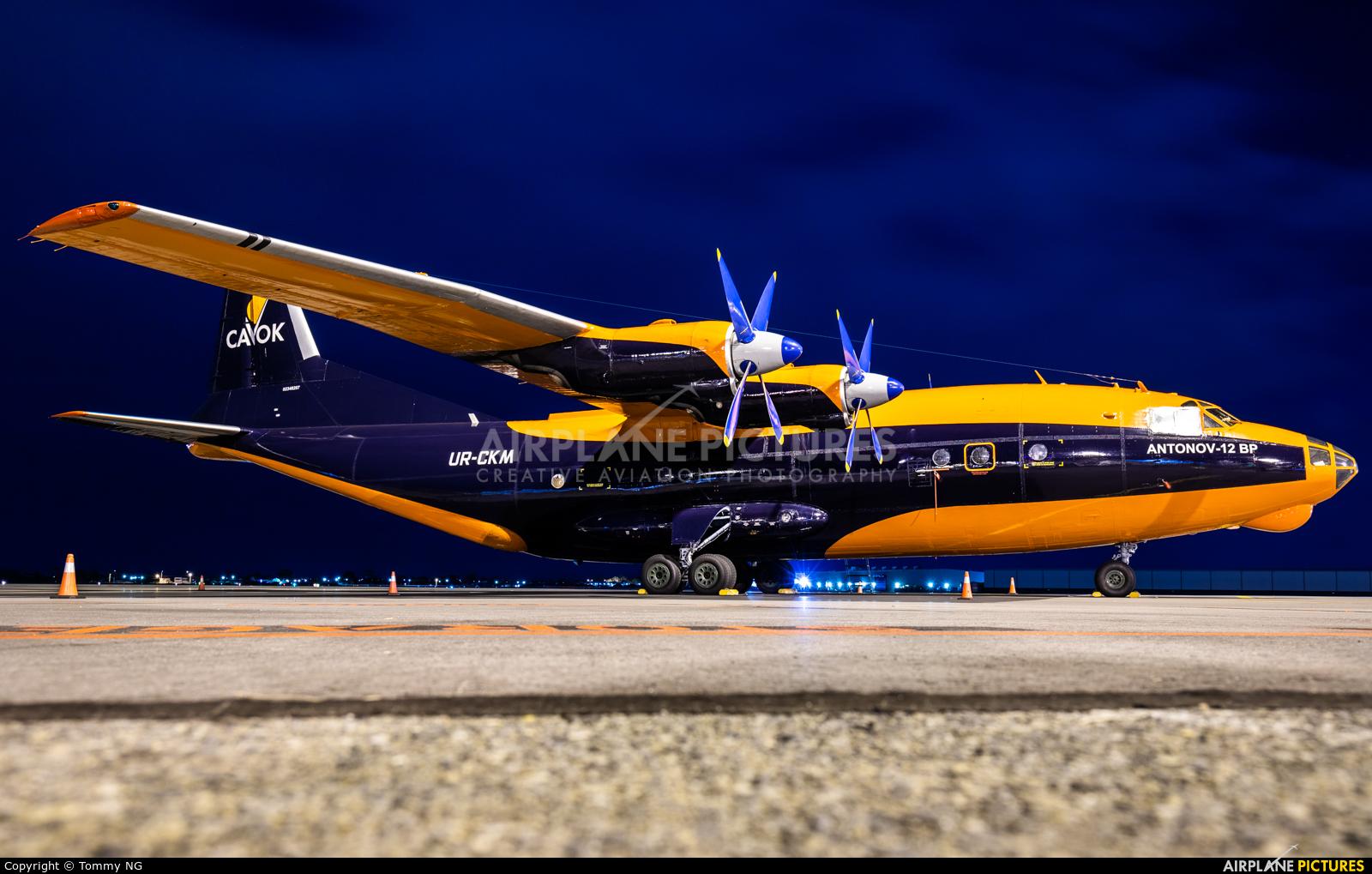 Cavok Air UR-CKM aircraft at Adelaide Intl, SA