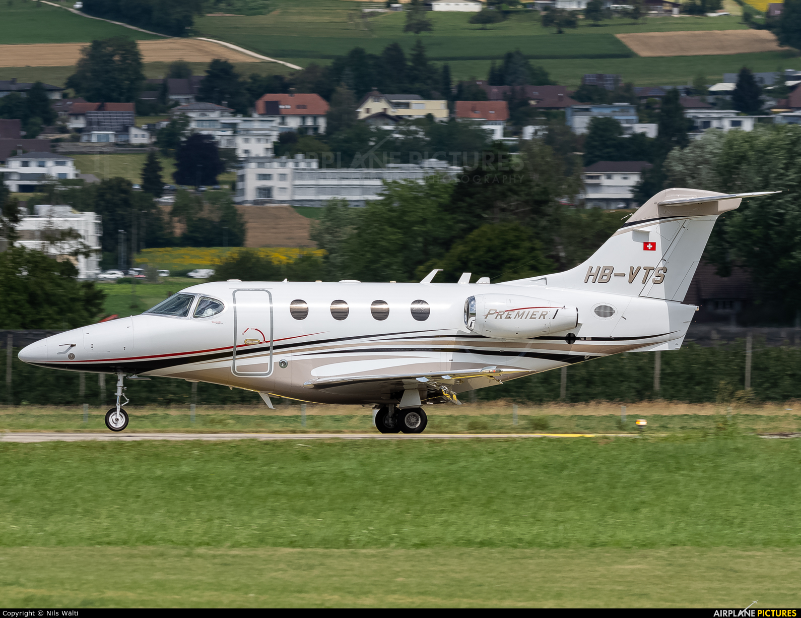 Private HB-VTS aircraft at Grenchen