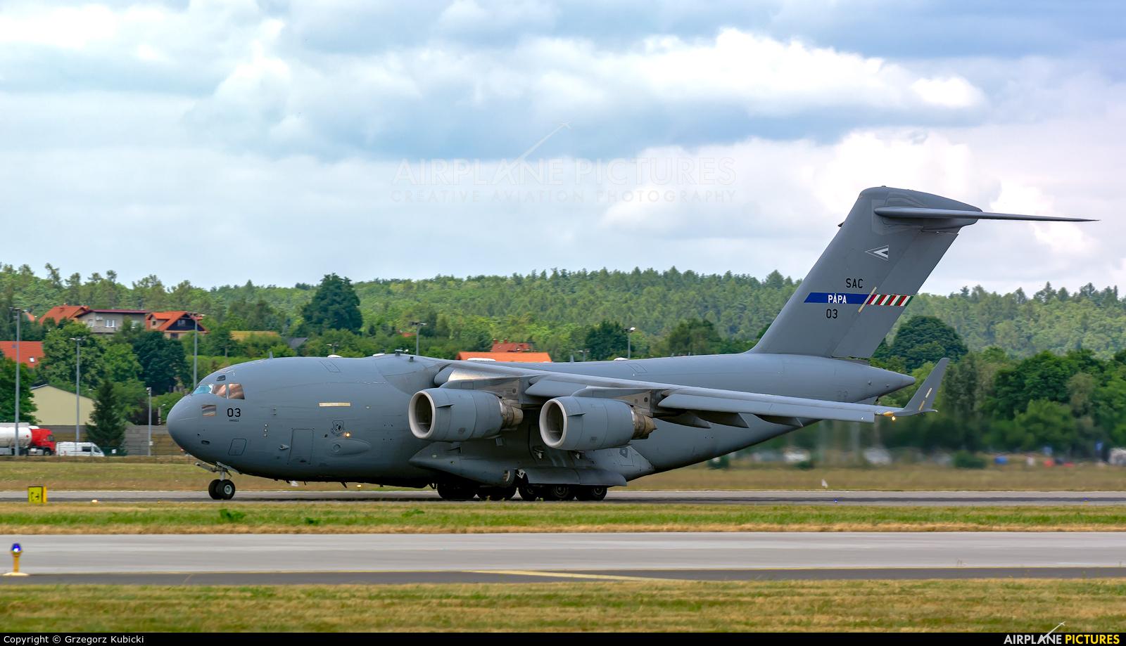 NATO SAC 03 aircraft at Kraków - John Paul II Intl