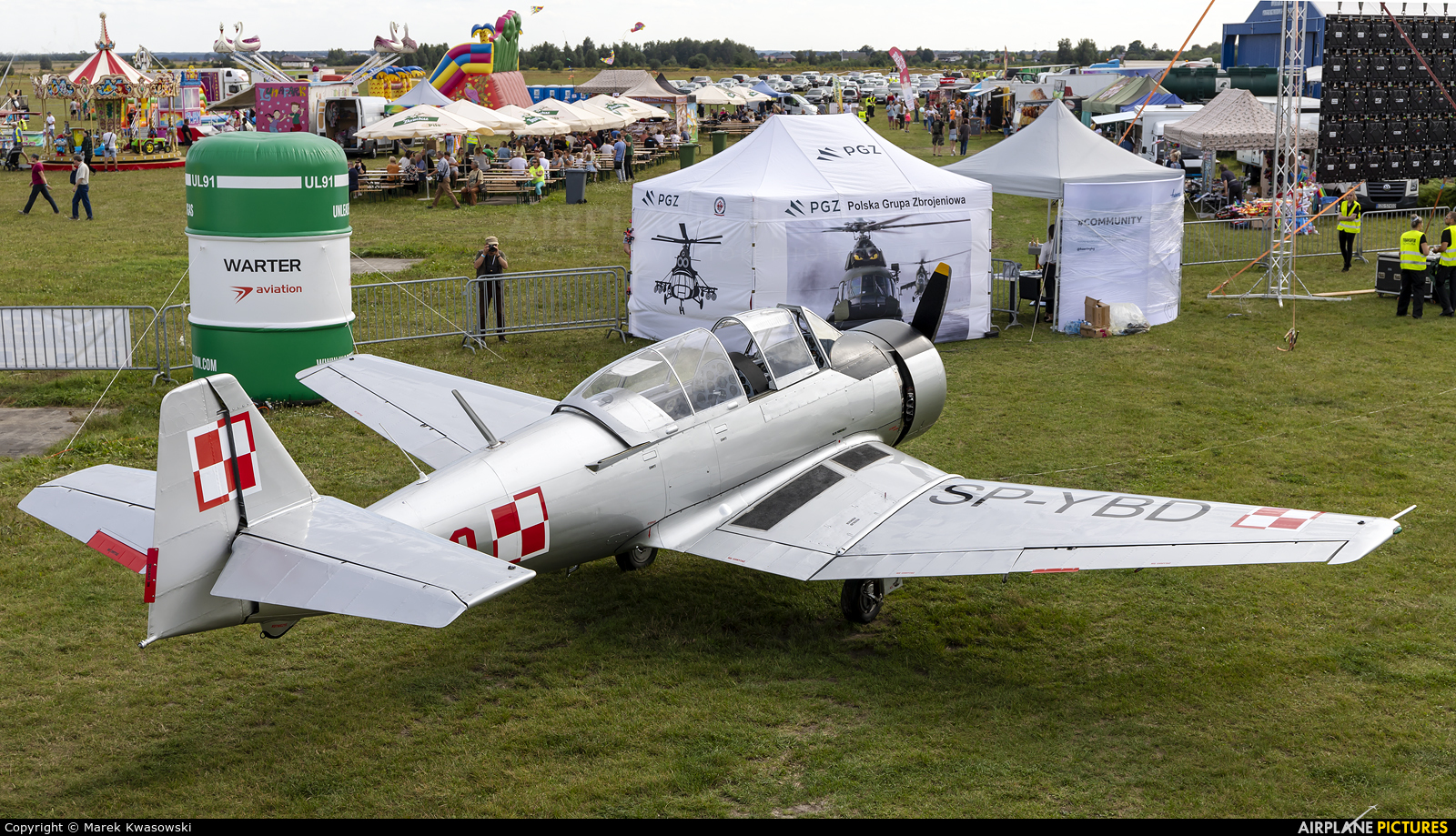 Private SP-YBD aircraft at Piotrków Trybunalski