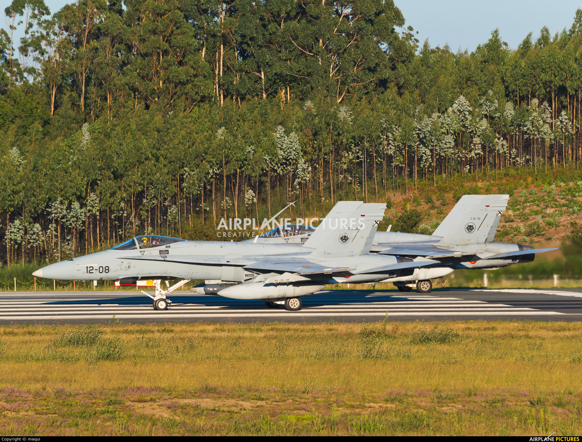 Spain - Air Force C.15-72 aircraft at Santiago de Compostela
