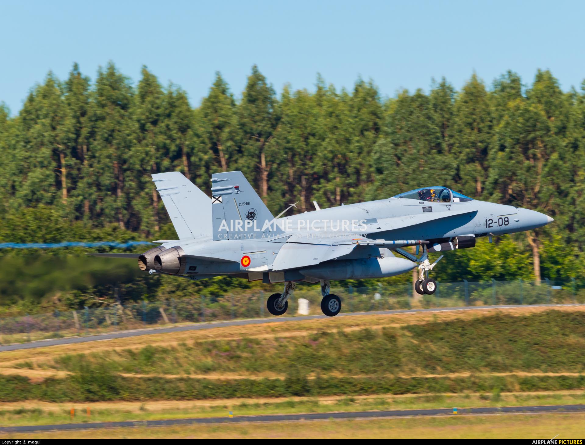 Spain - Air Force C.15-50 aircraft at Santiago de Compostela