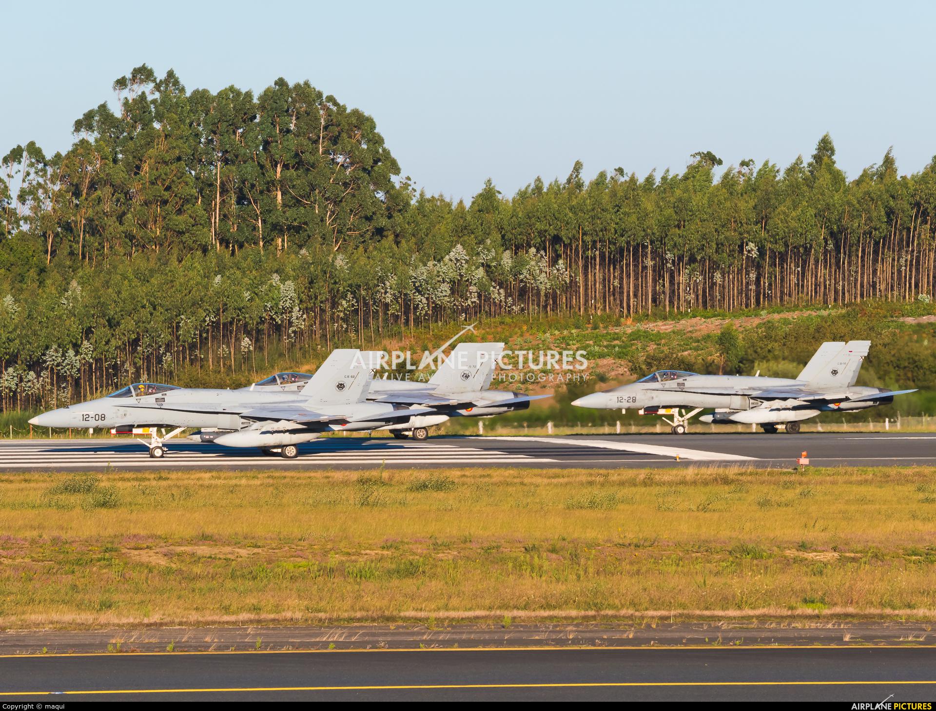Spain - Air Force C.15-72 aircraft at Santiago de Compostela