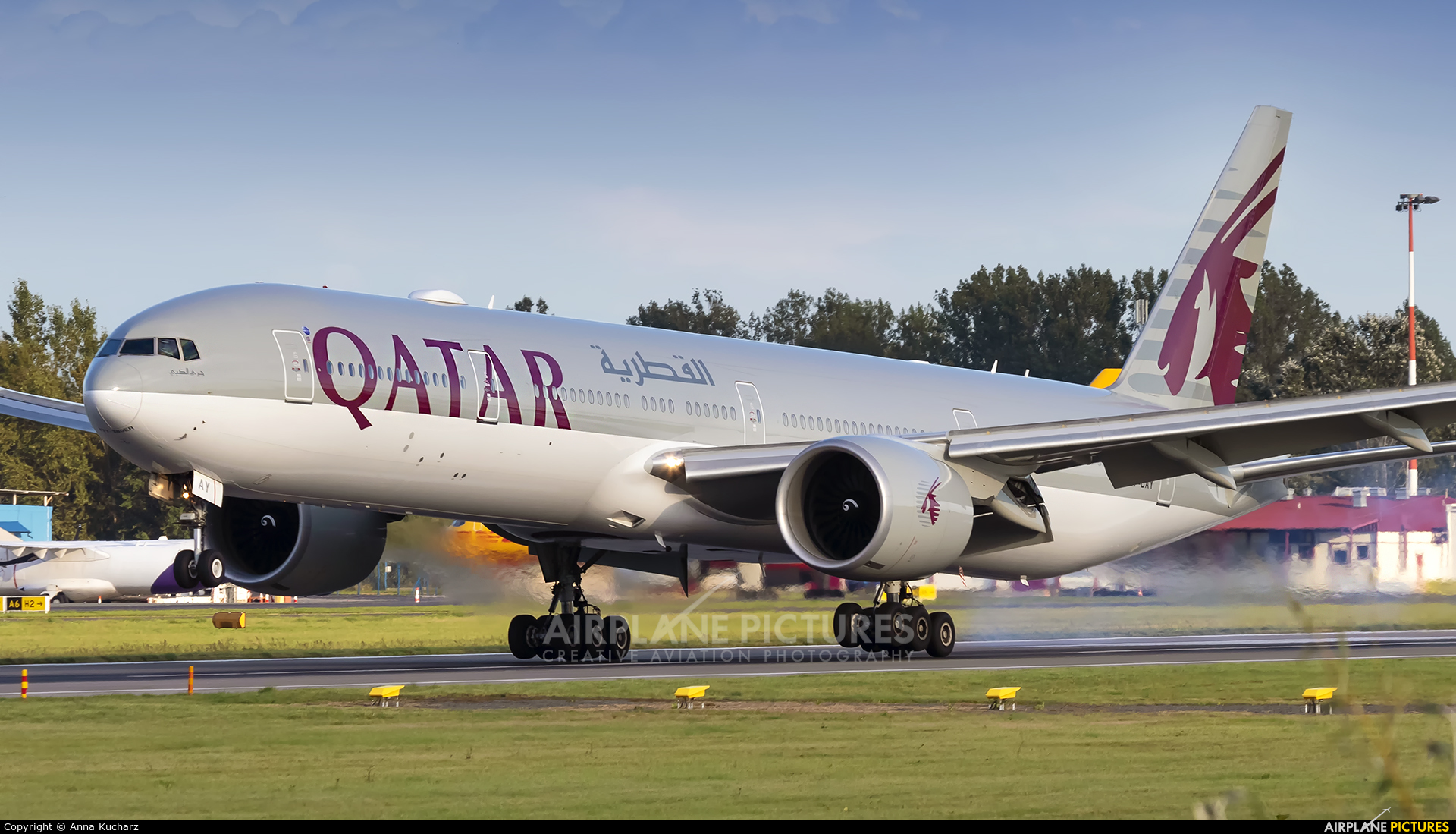 Qatar Airways A7-BAY aircraft at Warsaw - Frederic Chopin