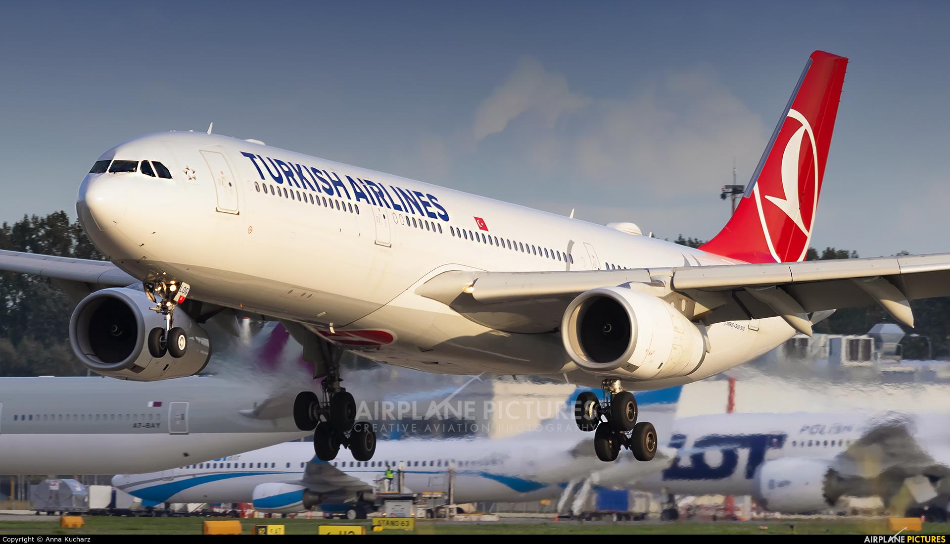Turkish Airlines TC-LOG aircraft at Warsaw - Frederic Chopin