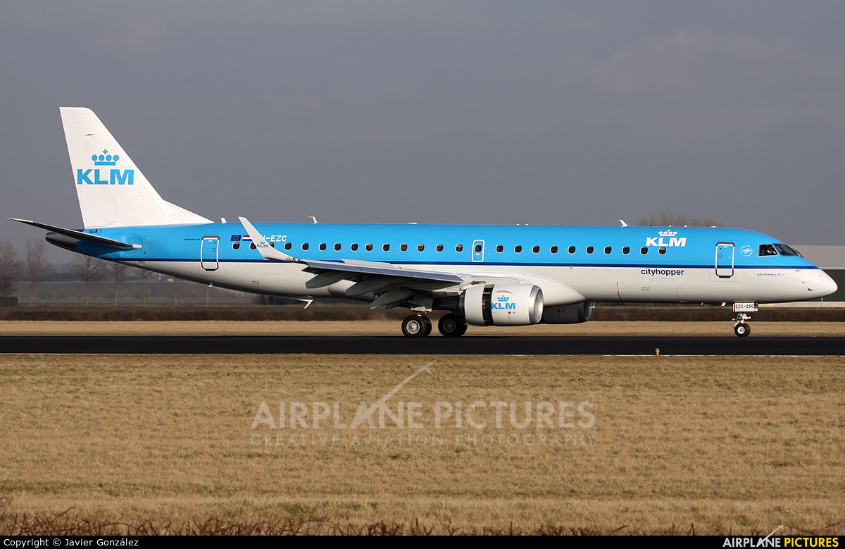 KLM Cityhopper PH-EZC aircraft at Amsterdam - Schiphol