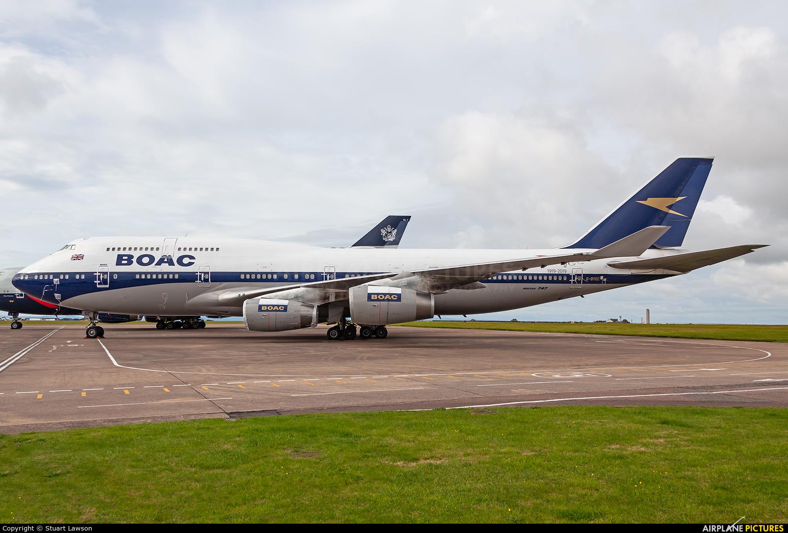 British Airways G-BYGC aircraft at Cardiff