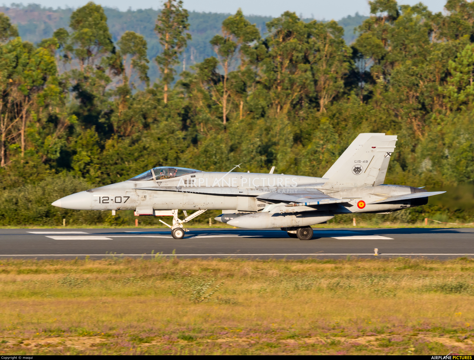 Spain - Air Force C.15-49 aircraft at Santiago de Compostela