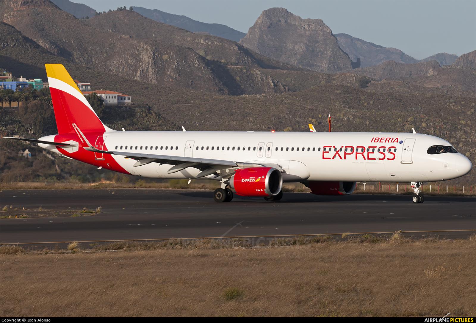 Iberia Express EC-NIA aircraft at Tenerife Norte - Los Rodeos
