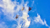 """- - Russia - Air Force """"Russian Knights"""" Sukhoi Su-35 aircraft"""