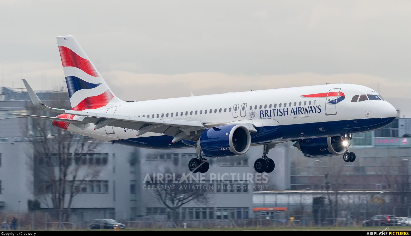 British Airways G-TTNK aircraft at Warsaw - Frederic Chopin