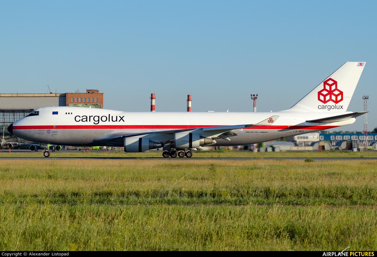 Cargolux LX-NCL aircraft at Novosibirsk