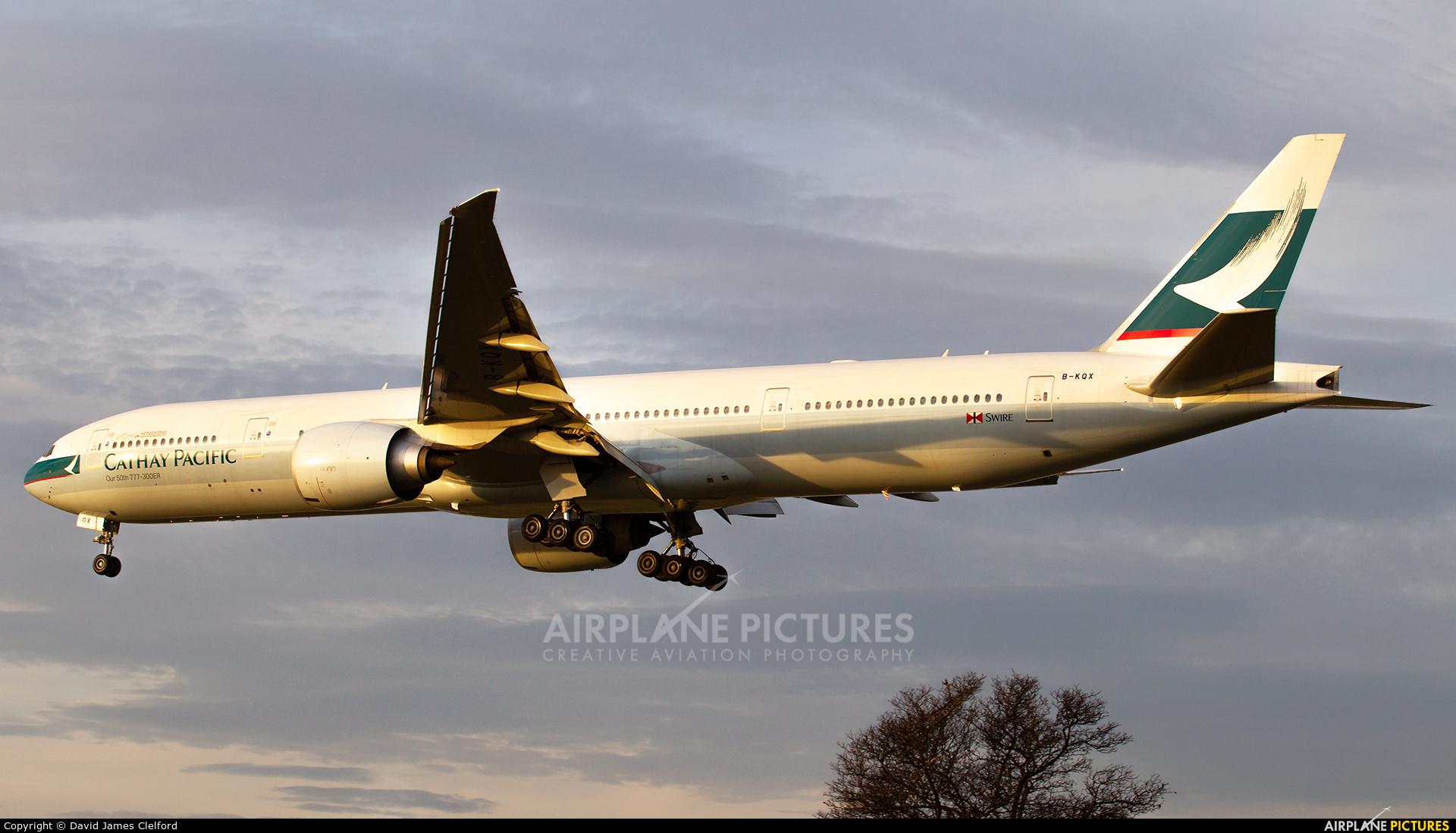 Cathay Pacific B-KQX aircraft at London - Heathrow