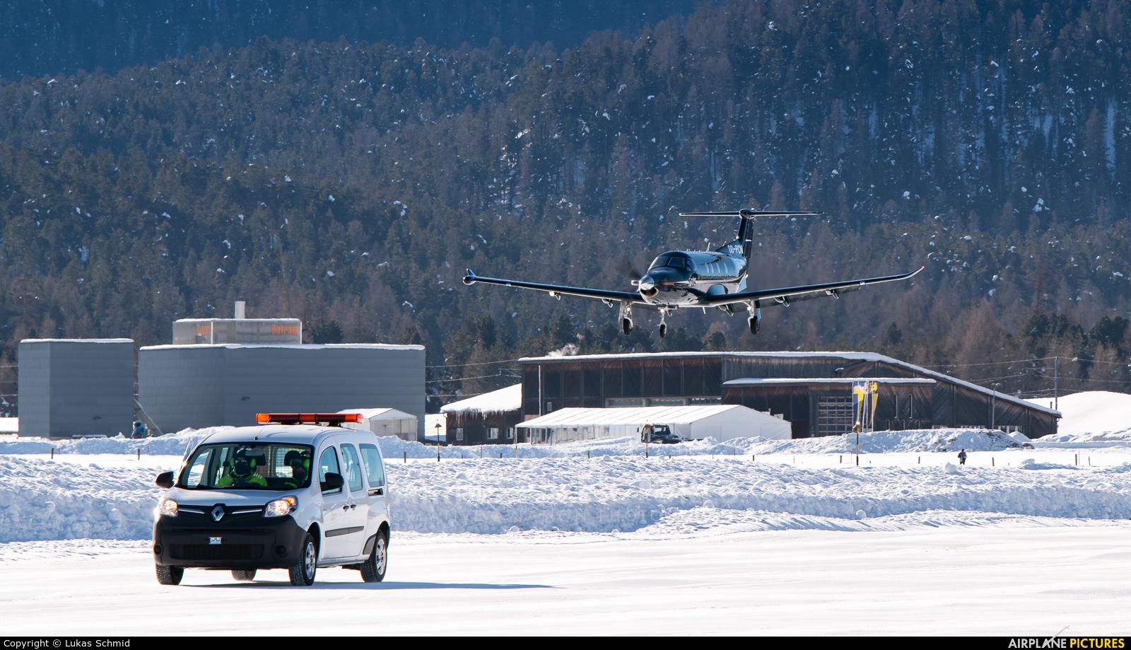 European Aircraft Private Club OO-PCN aircraft at Samedan - Engadin