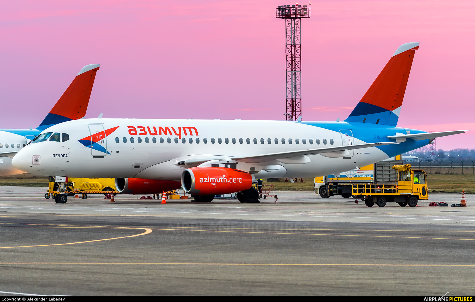 Azimuth RA-89139 aircraft at Krasnodar