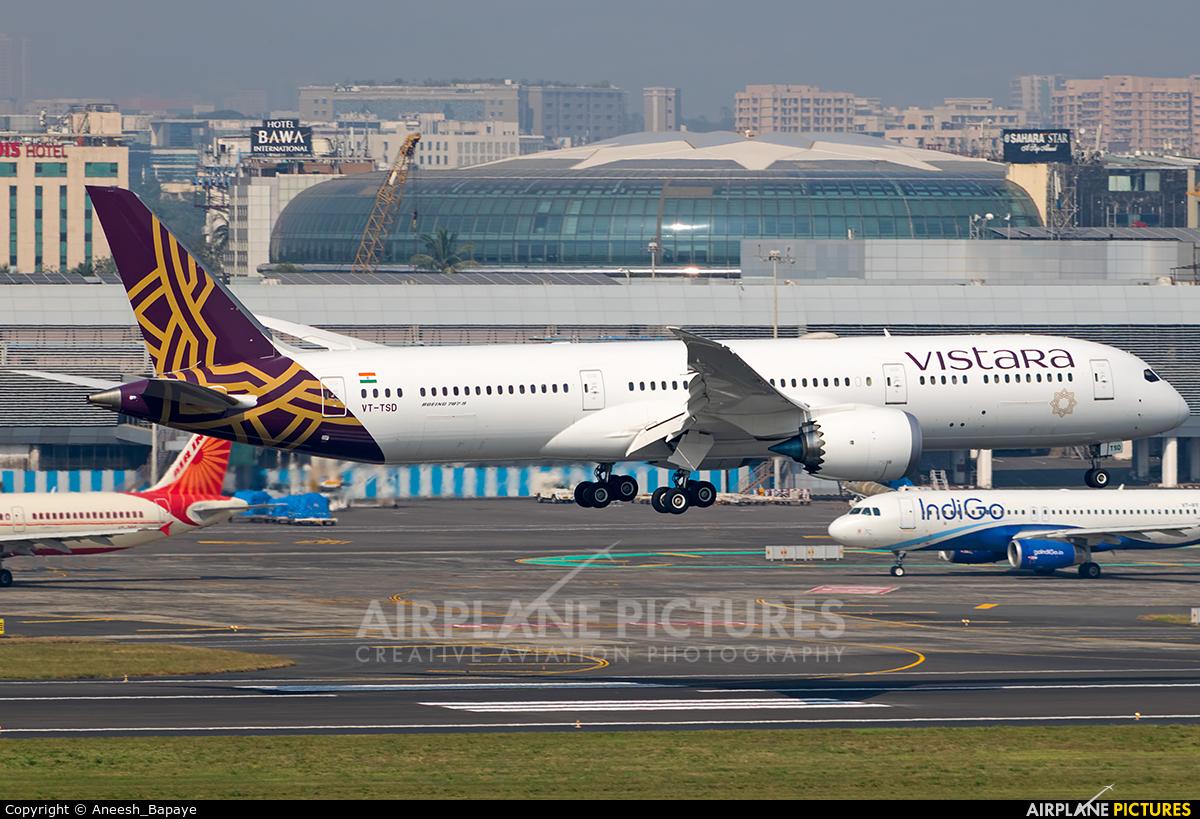 Vistara VT-TSD aircraft at Mumbai - Chhatrapati Shivaji Intl