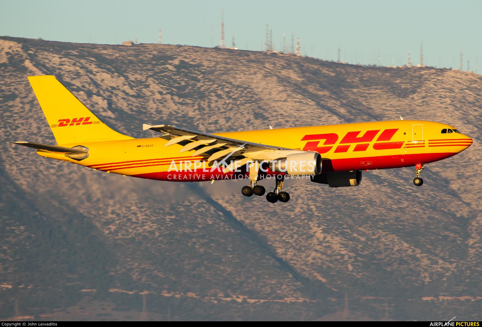 DHL Cargo D-AEAG aircraft at Athens - Eleftherios Venizelos