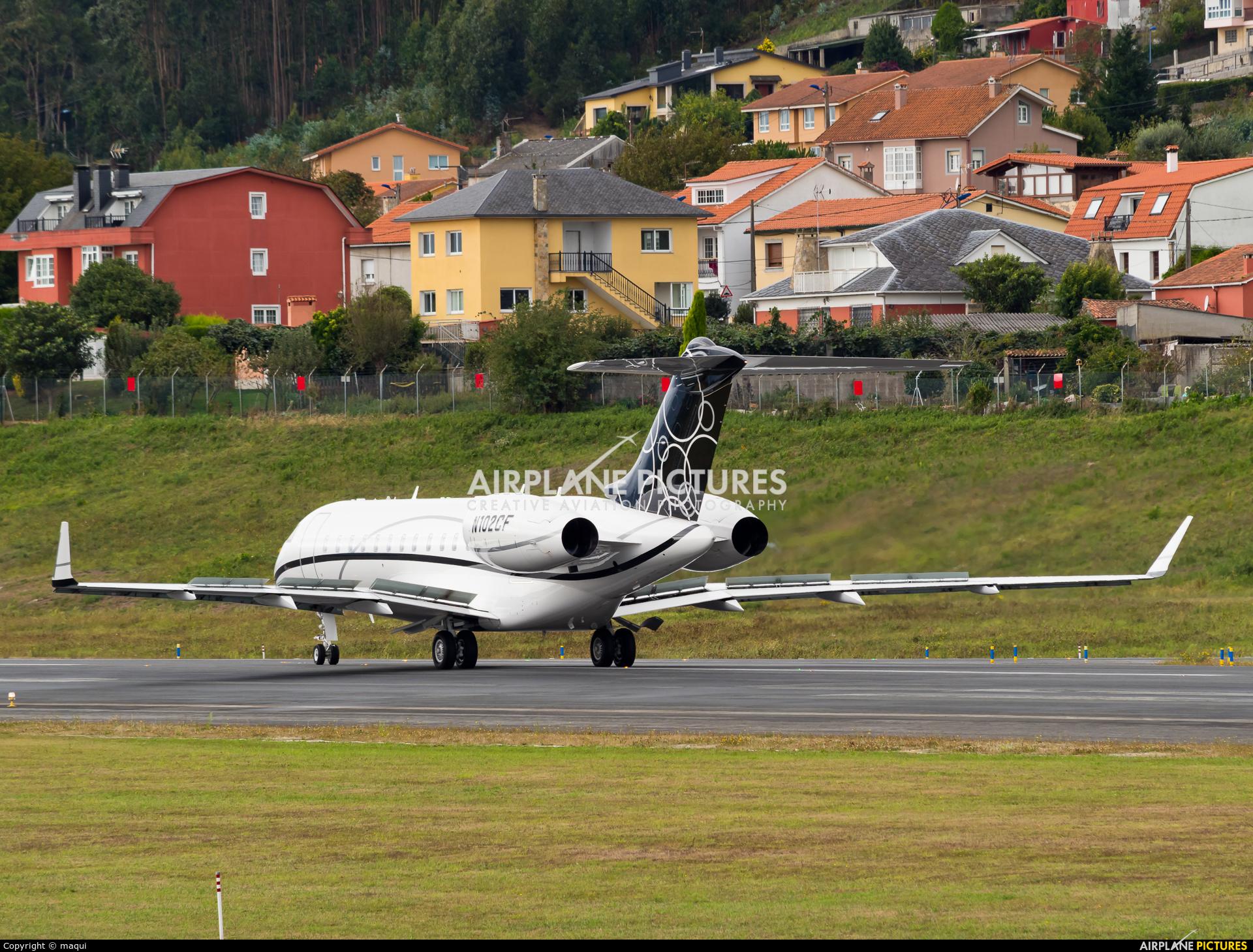Private N102CF aircraft at La Coruña