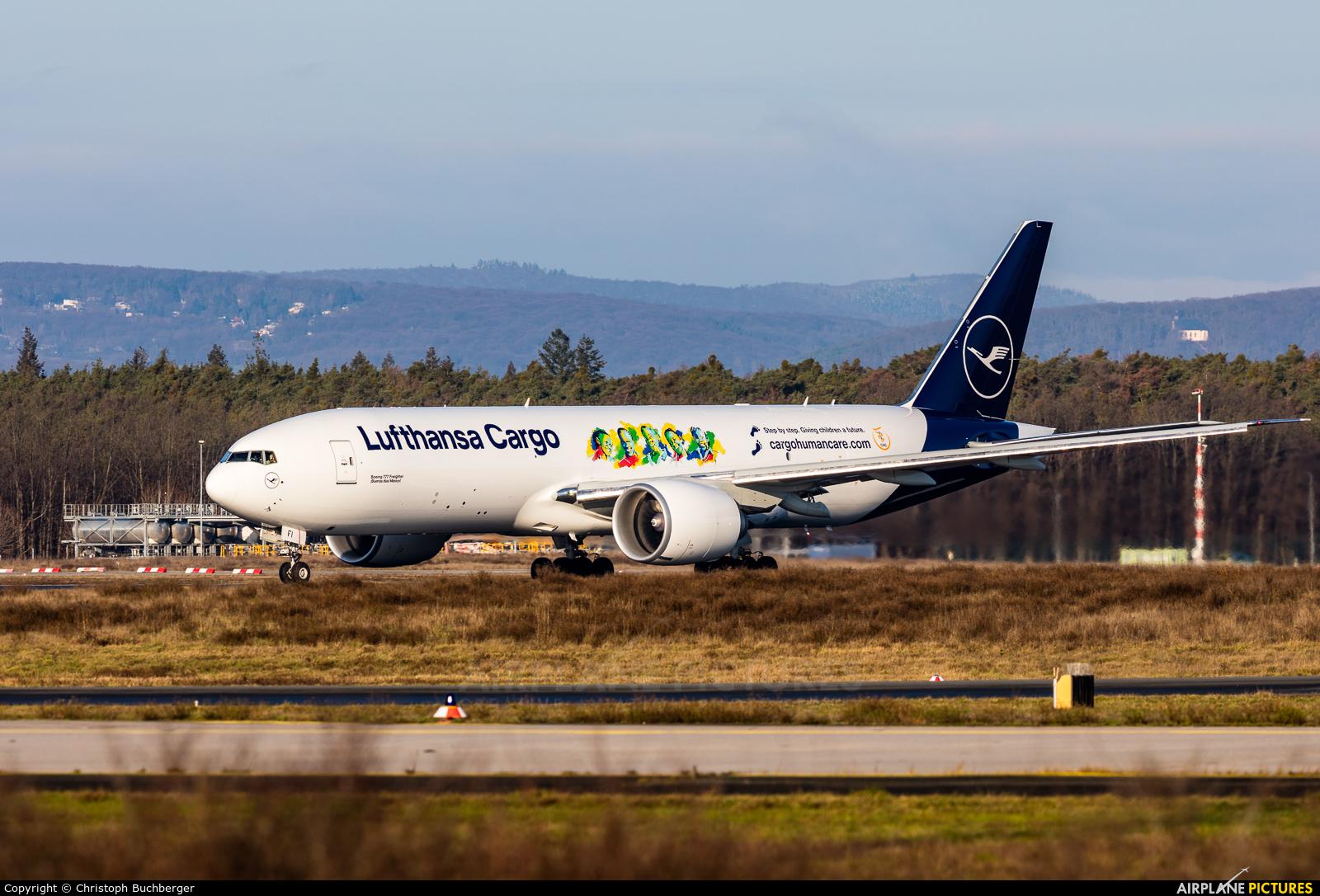 Lufthansa Cargo D-ALFI aircraft at Frankfurt