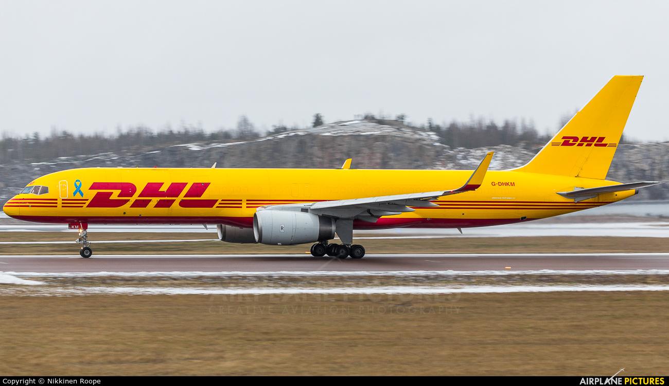 DHL Cargo G-DHKM aircraft at Helsinki - Vantaa