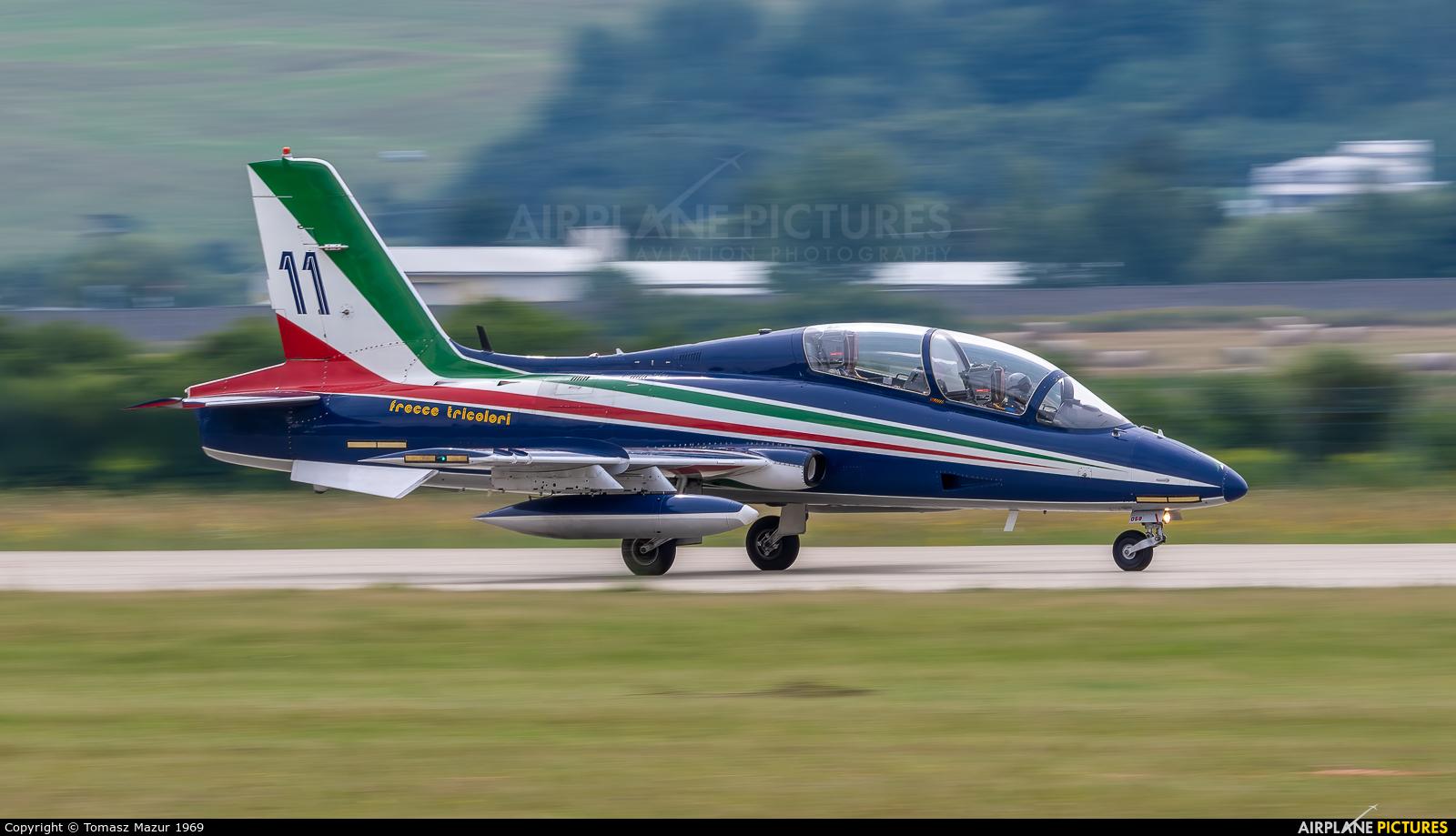 "Italy - Air Force ""Frecce Tricolori"" 11 aircraft at Sliač"