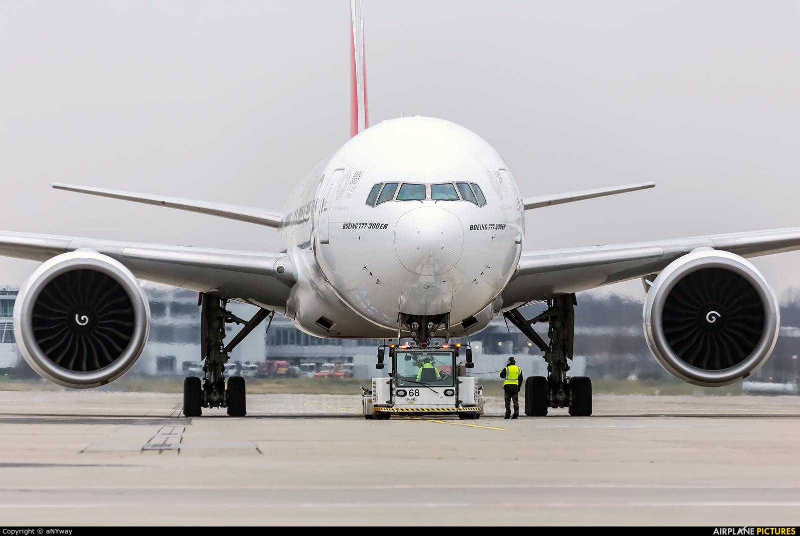 Emirates Airlines A6-EBY aircraft at Düsseldorf