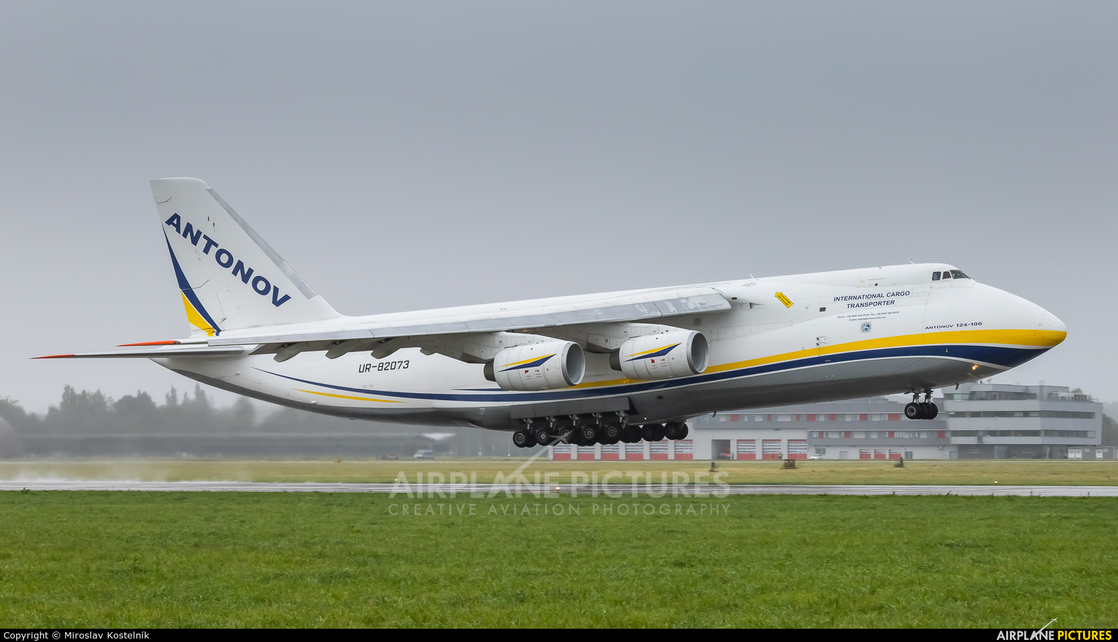 Antonov Airlines /  Design Bureau UR-82073 aircraft at Ostrava Mošnov