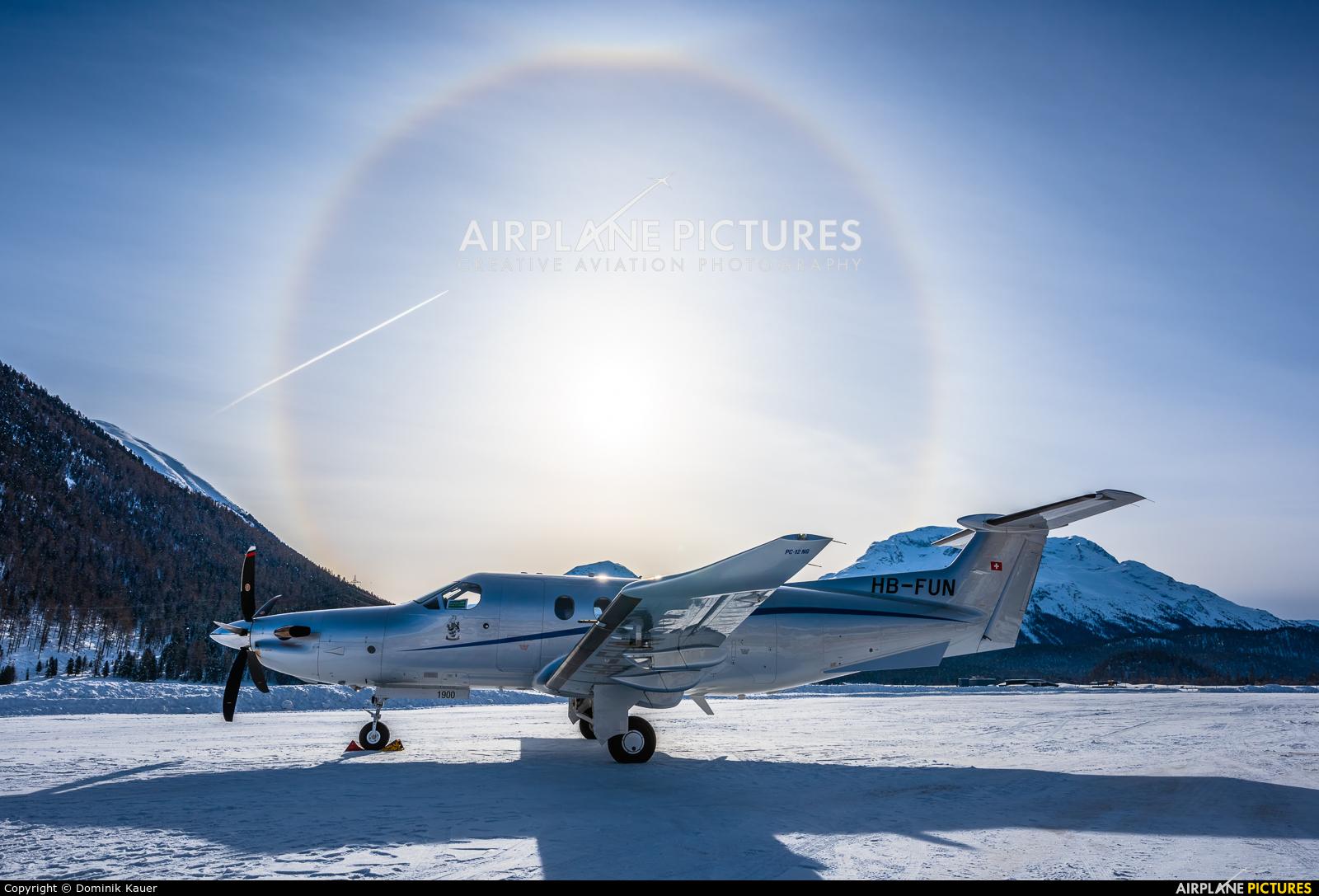 Private HB-FUN aircraft at Samedan - Engadin