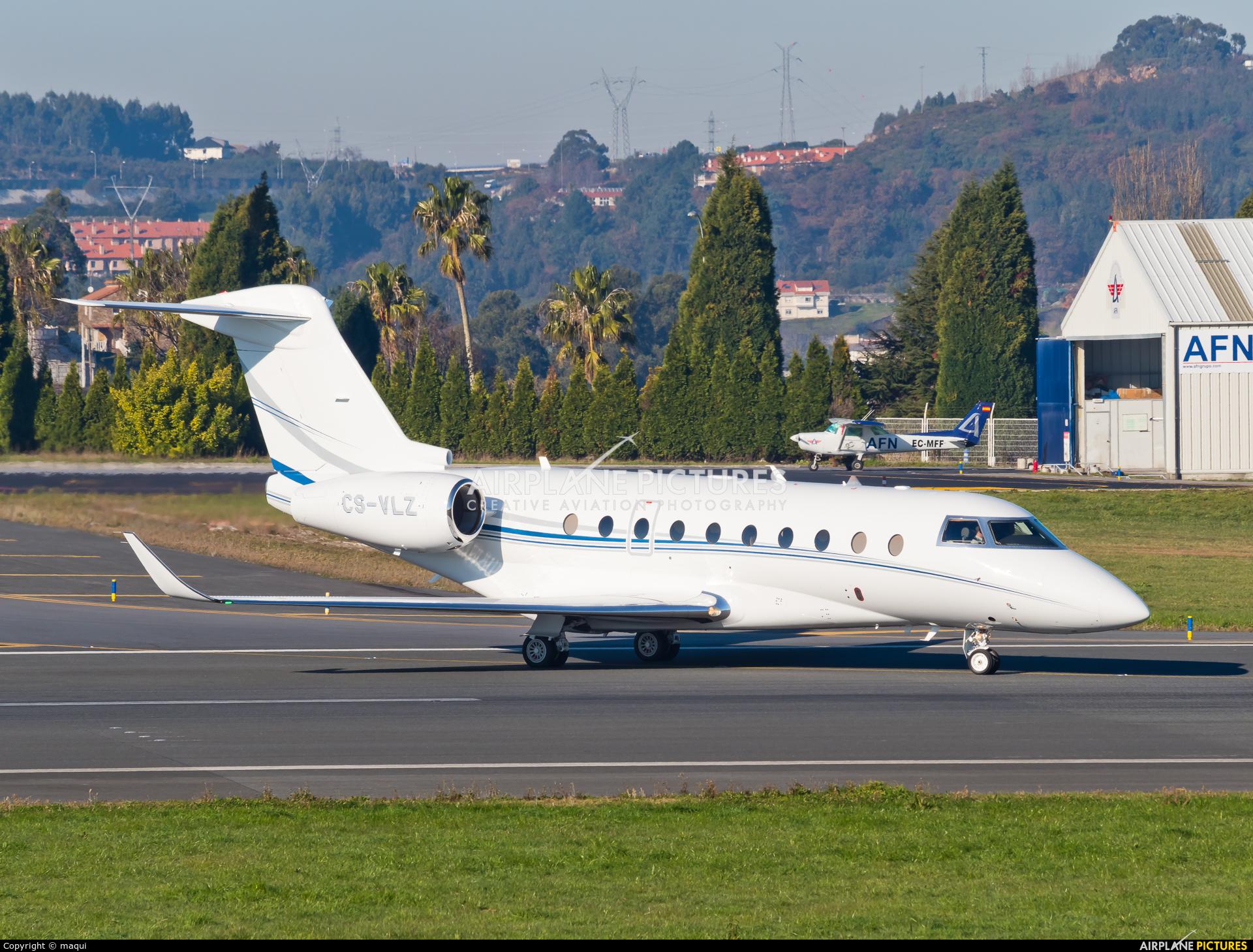 Private CS-VLZ aircraft at La Coruña